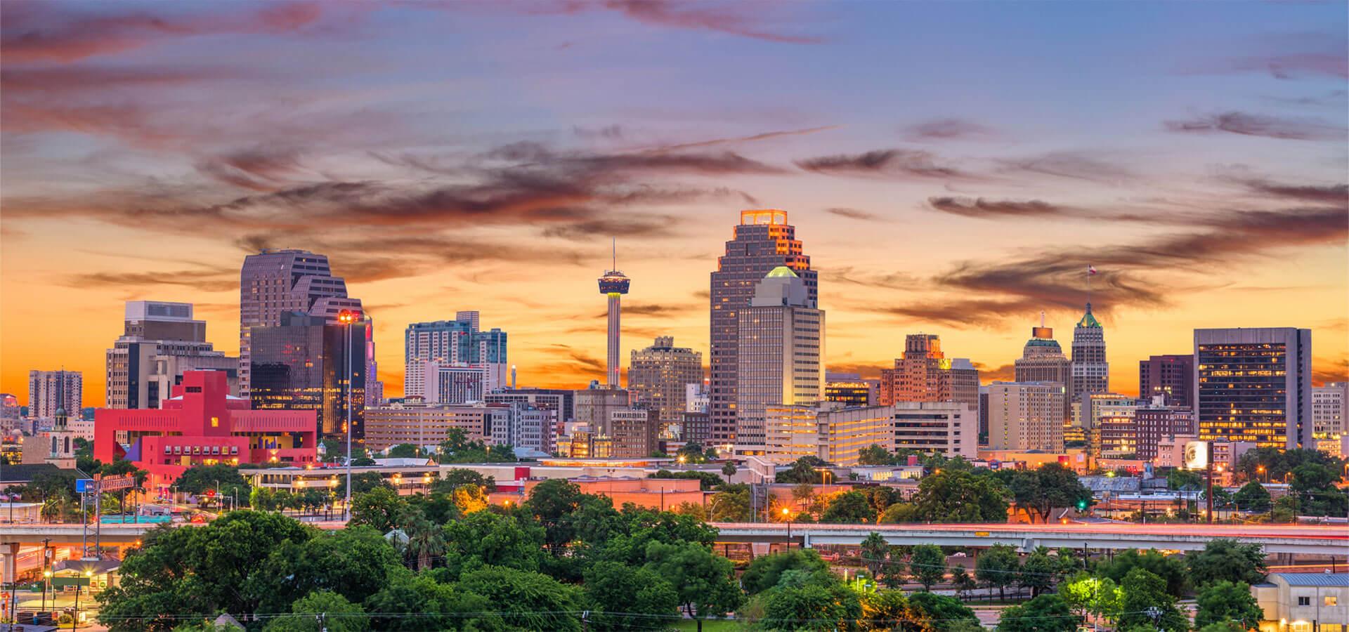 San Antonio, Texas Night time