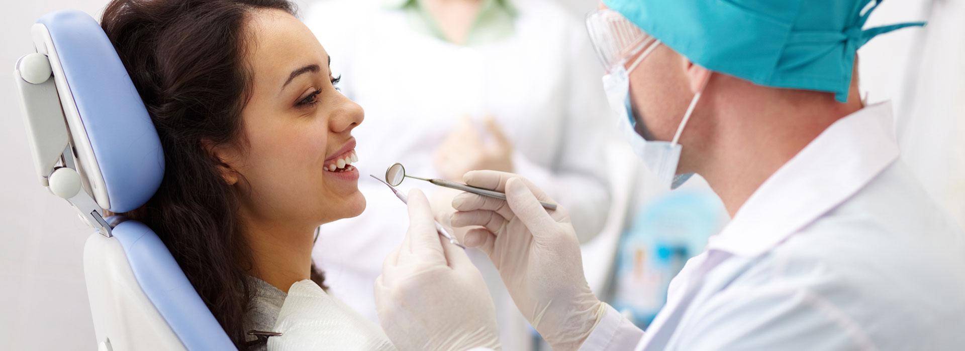 A girl having treatment for gum desease