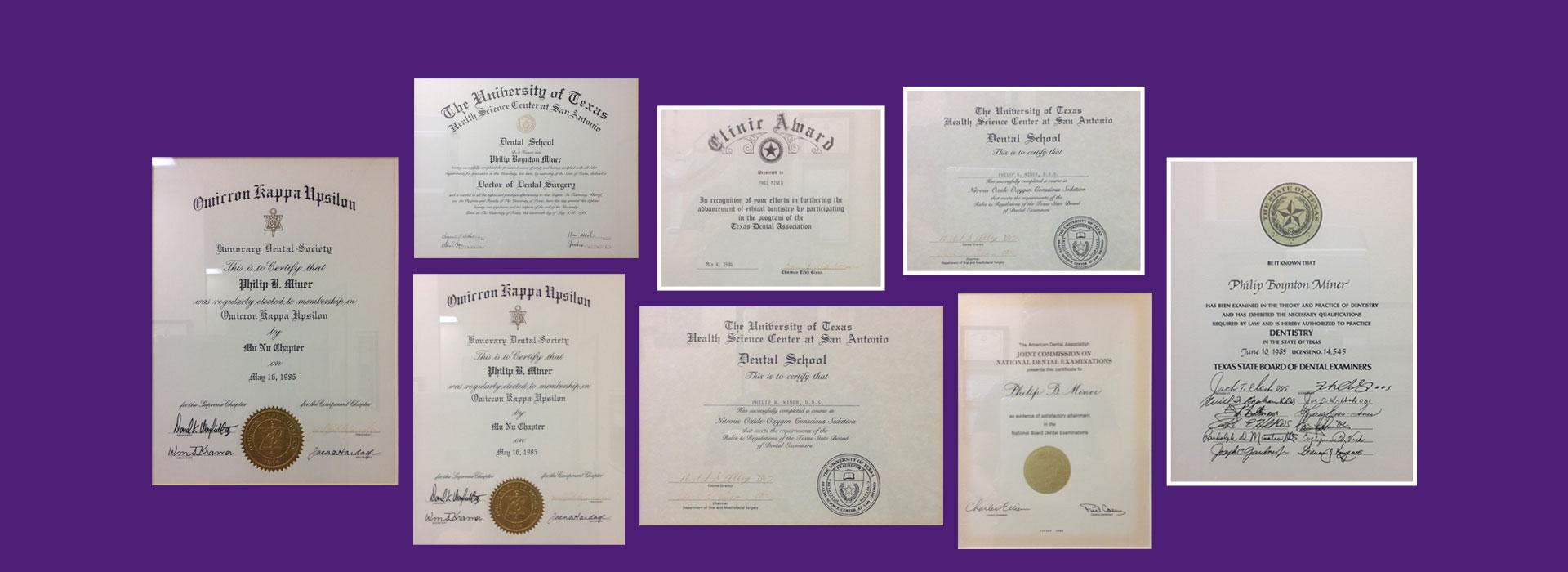 Awards of Dr. Miner